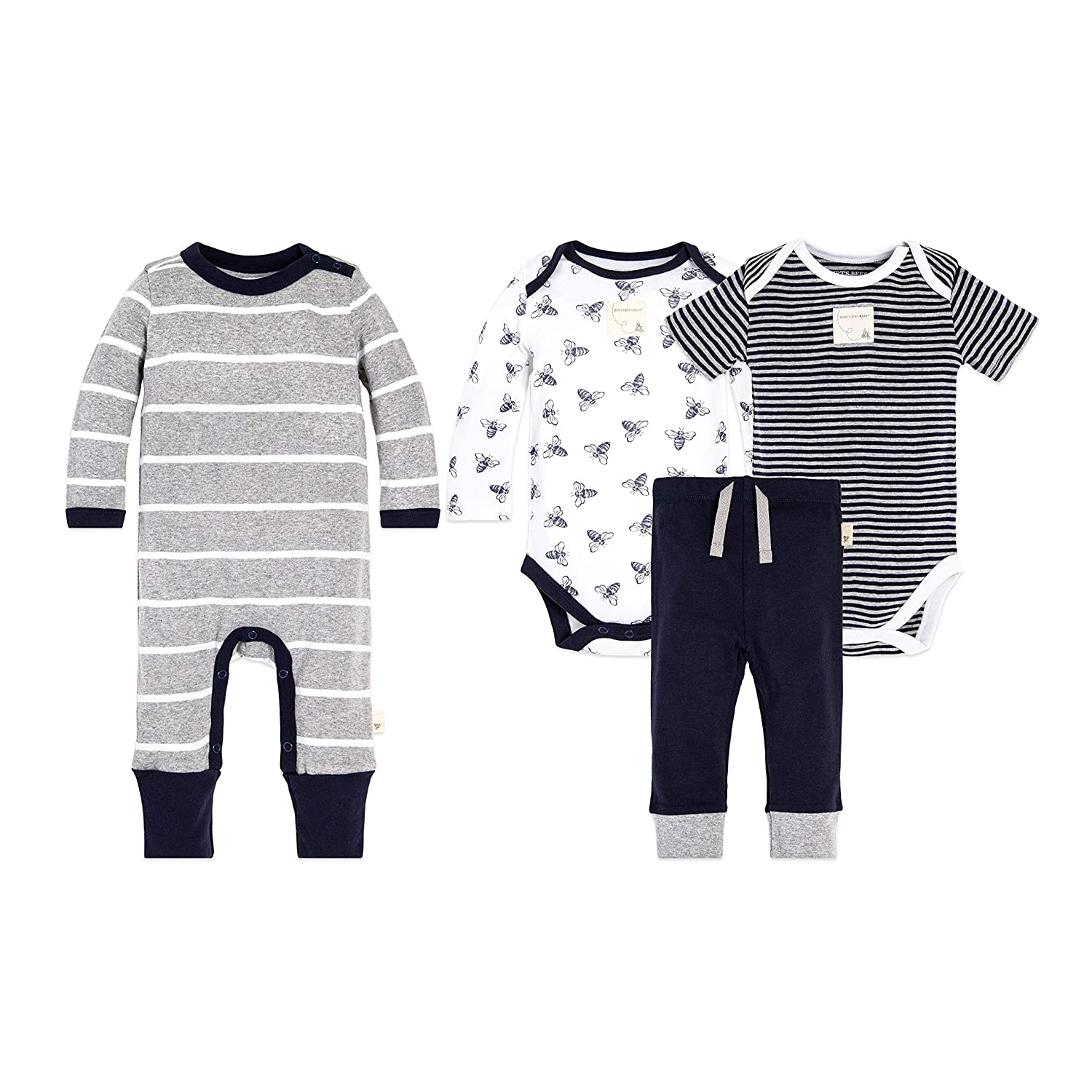 257df1a9e898 Burt s Bees Baby 4-Piece Clothing Sets - Includes  2 Bodysuits
