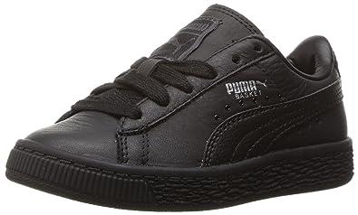 Puma Kids Basket Classic L BTS PS Running Shoe  Puma White-puma Silver