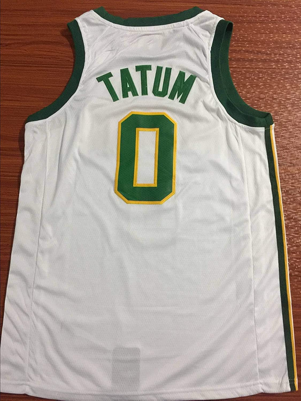 Feikore NBA Camiseta,Camiseta de Baloncesto para Hombre,Jersey Hombre NBA Boston Celtics 0# Tatum Bordado de Malla de Baloncesto Swingman Jersey TAMA/ÑO: S-XXL