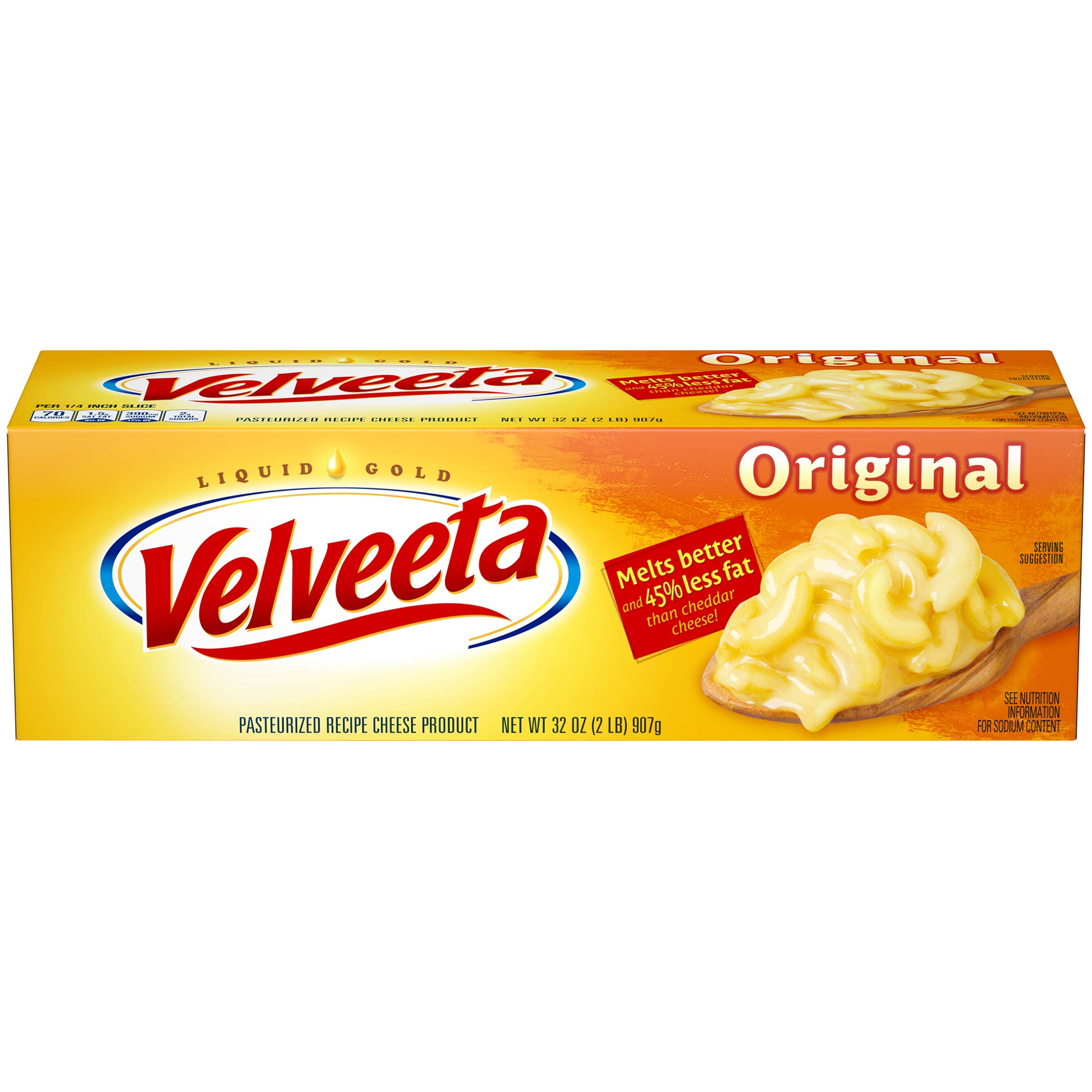 Velveeta Loaf, 32 Ounce (Pack of 12)