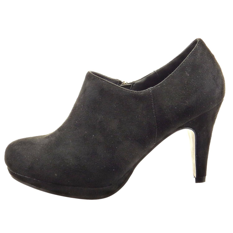 8c5f9ae098e2 Sopily - Chaussure Mode Bottine Low boots Cheville femmes Talon haut  aiguille 6 CM - Noir - CAT-3-PN1512 T 41  Amazon.fr  Chaussures et Sacs