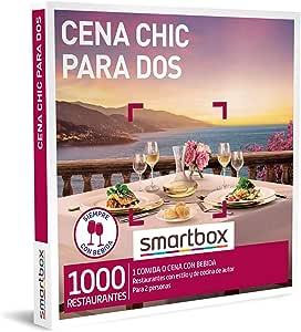 Smartbox - Caja Regalo Amor para Parejas - Cena Chic para Dos - Ideas Regalos Originales - 1 Comida o Cena con Bebidas para 2 Personas