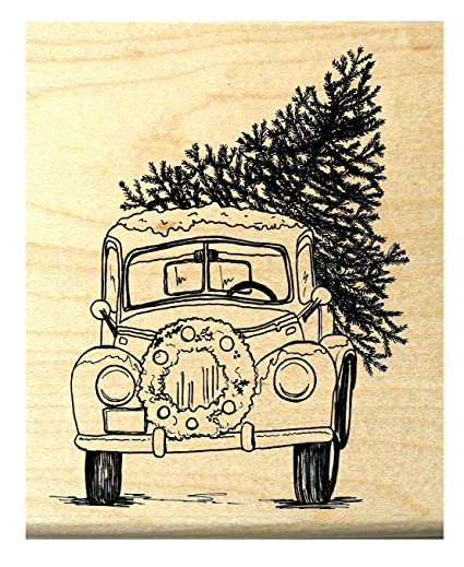 Old Truck With Christmas Tree.Amazon Com P118 Old Pick Up Truck With Christmas Tree