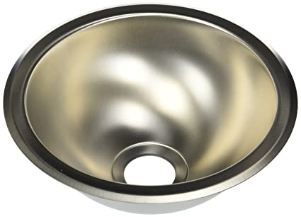 Sterling 111-0 10-Inch Round Lavatory, Stainless Steel - Bathroom ...