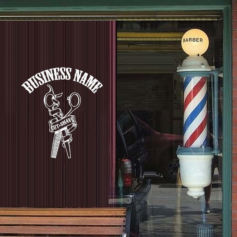 Amazon.com: bestpriceddecals corte y afeitado ~ barbería ...