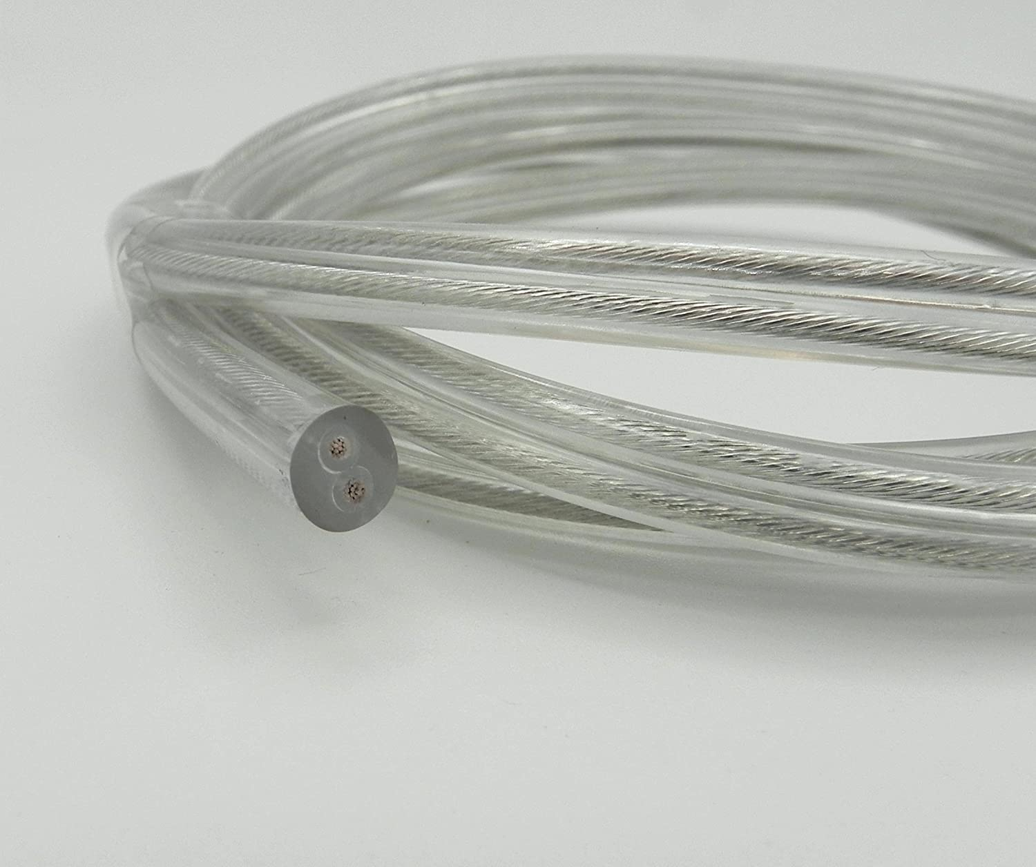 Stromkabel 2x 0,75 mm² - transparent - Kabel - Leitung: Amazon.de ...