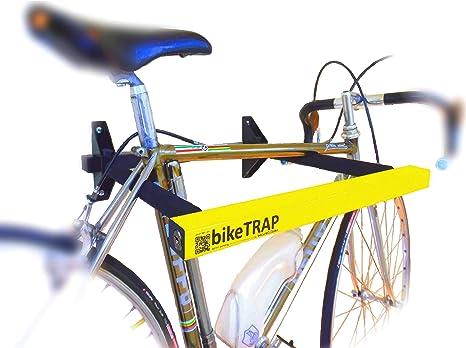 Candado y soporte antirrobo de pared para bicicletas bikeTRAP de alta seguridad. Guarda con tranquilidad tu bici!: Amazon.es: Deportes y aire libre