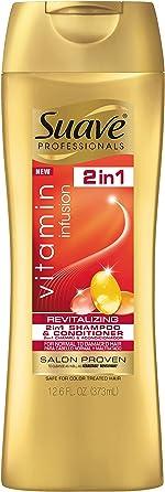 Suave Professionals 2 In 1 Shampoo and Conditioner Vitamin Infusion, 12.6