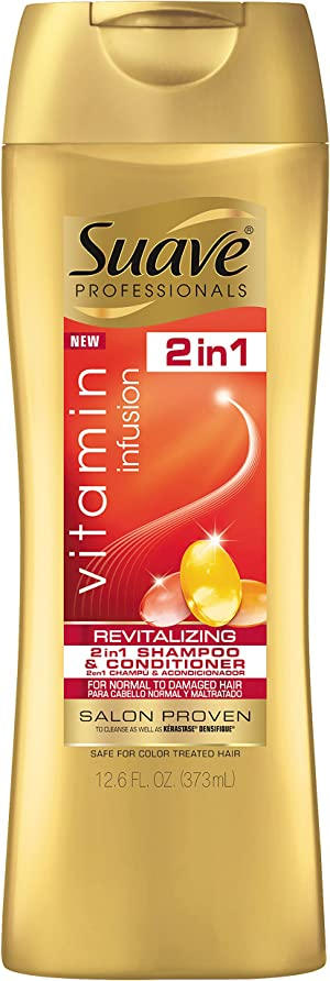 Suave Professionals 2 In 1 Shampoo and Conditioner Vitamin Infusion, 12.6 Ounce