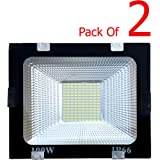 Generic RE20180039 100-Watt Flood Outdoor Light (Pack of 2, White)