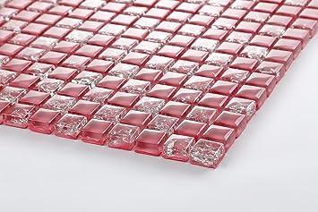Xcm Muster Glas Mosaik Fliesen Muster In Pink Gebrochene Und - Fliesen glasoptik