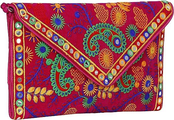 Indian Handmade Stylish Ethnic Elephant Embroidery// Printed Design Boho Bag