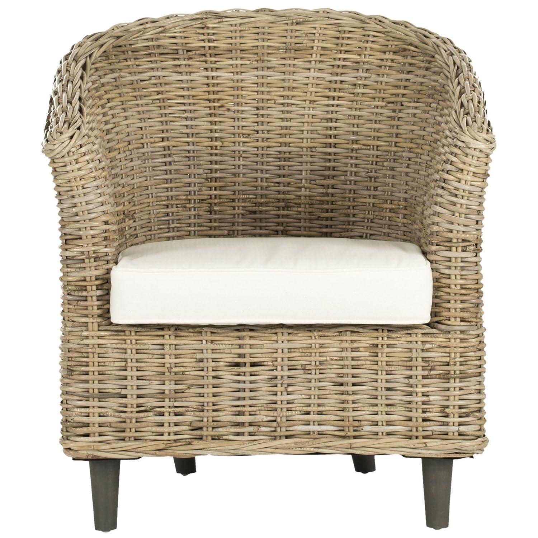 Amazon Safavieh Home Collection Omni Brown Glaze Barrel Chair