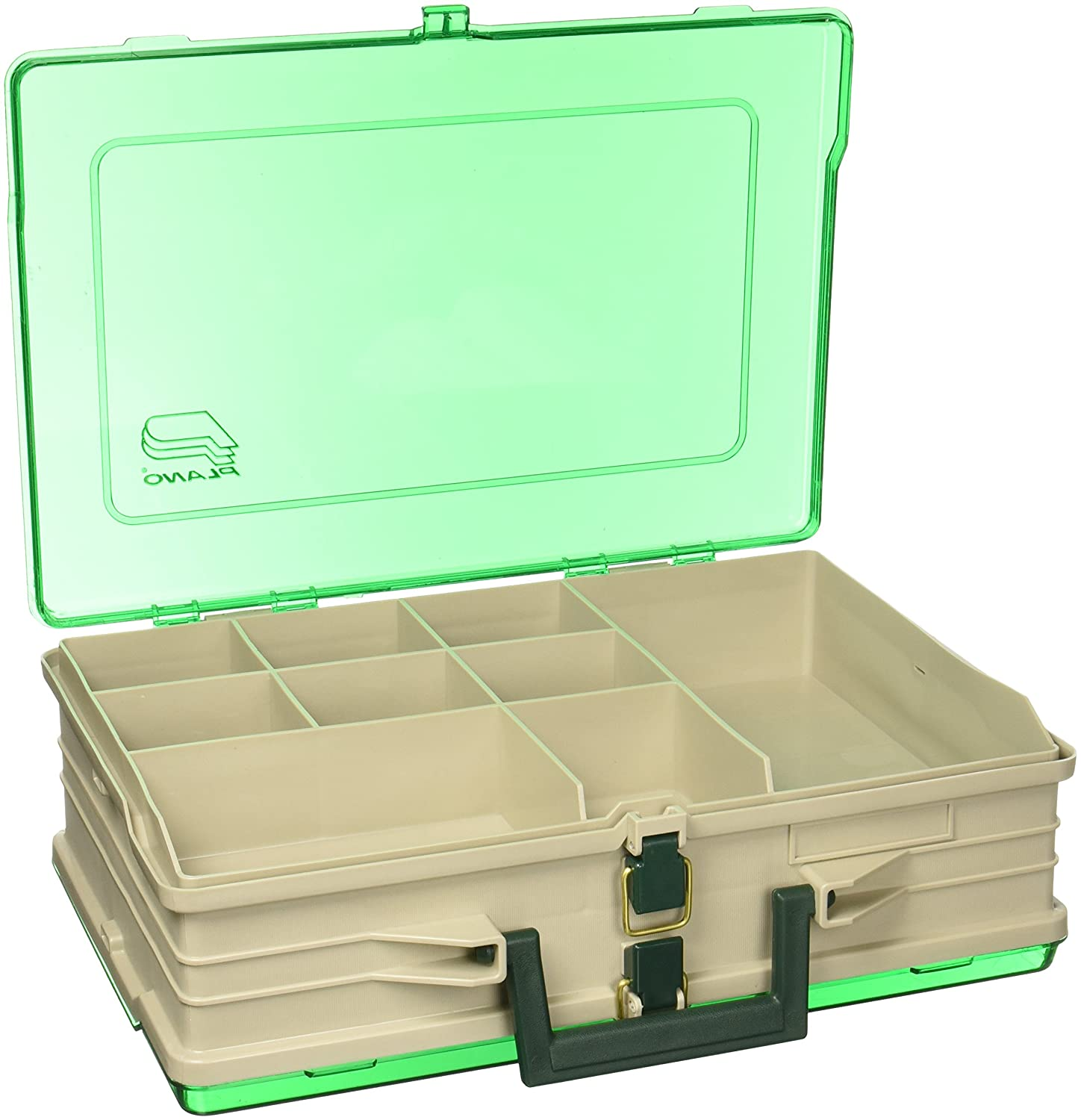 Plano Magnum Tackle Box Double Side Sandstone Green 1119