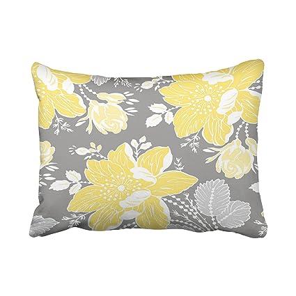 TAROLO decorativo amarillo gris blanco floral decorativo ...
