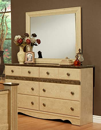 Sandberg Furniture Casa Blanca 6 Drawer Dresser With Mirror