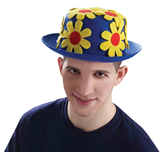 bf9e80bcc6f Amazon.com  Clown Daisy Derby Hat Costume Accessory  Clothing