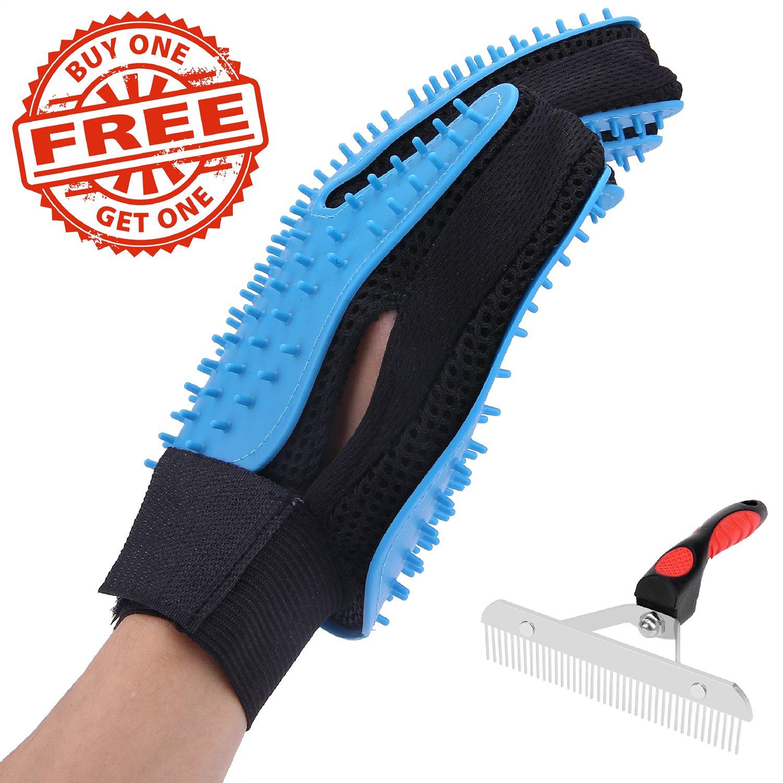 EPL Pet Grooming Glove Pet Deshedding Glove Dog Grooming Kit Cat Grooming Kit Pet Hair Remover Buy 1 Glove Get 1 Comb Free