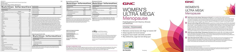 GNC Ultra Mega menopausia de las mujeres: Amazon.es: Salud y cuidado personal