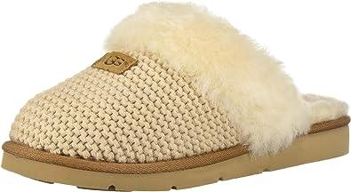 UGG Women's W Cozy Knit Slipper, Cream