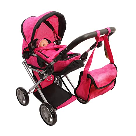cc2f4f5b4 Amazon.com  Mommy   Me - 5 in 1 Deluxe Doll Pram  Toys   Games