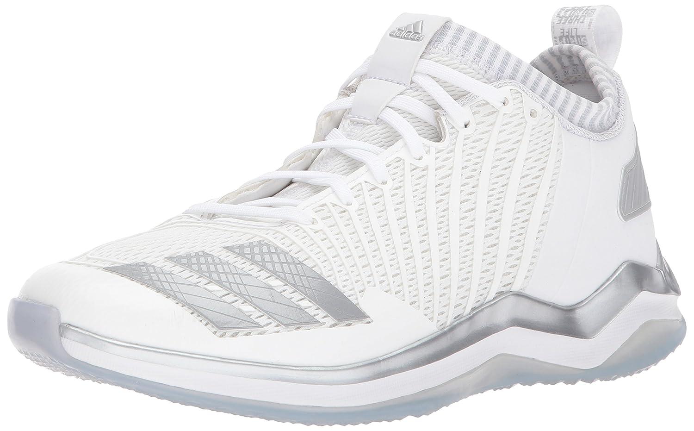 adidas Men's Freak X Carbon Mid Baseball Shoe B01MQY9PK2 7.5 D(M) US|White/Metallic Silver/Light Grey