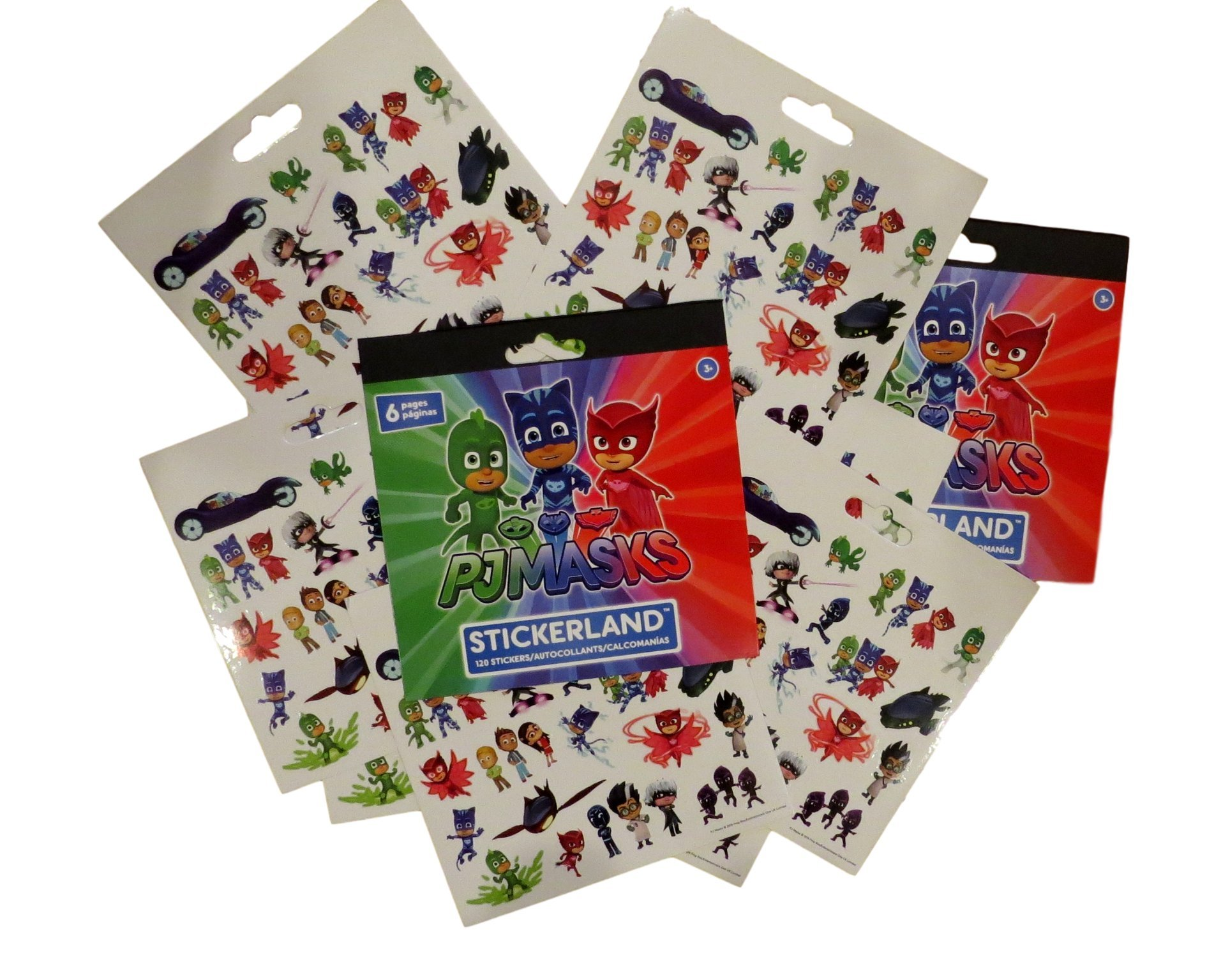 PJ Masks Stickers Party Favors - Bundle of 12 Sheets plus 2 Jumbo Specialty Comic Pop