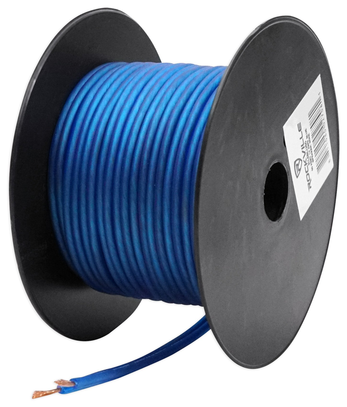 Best Rated In Car Speaker Wire Helpful Customer Reviews Audio Wiring Rockville R14gblu50 Blue 14 Gauge 50 Foot Mini Spool Product Image