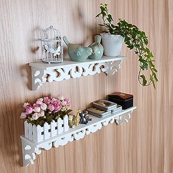 Wandregal küche shabby  Yosoo Landhaus Weiß Wandregal Shabby Chic Wandkonsole Hängeregal ...