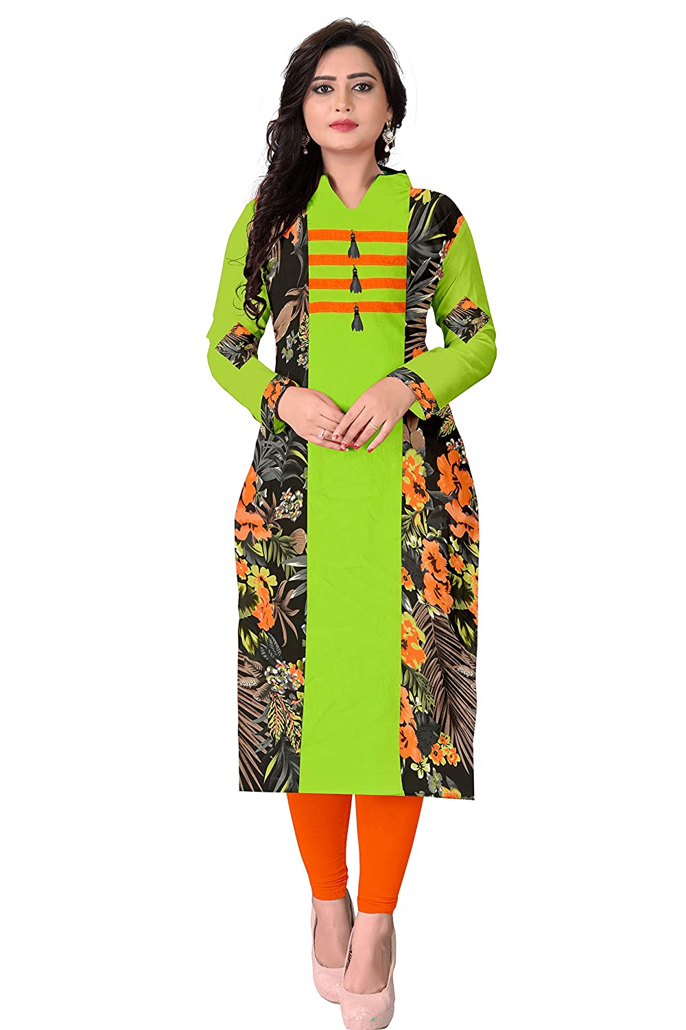 cd92fc3bbd45 Pramukh Fashion Women's Cotton Semi-stitched Kurtis (1132 1019,  Multicolour, Free Size) - Combo Pack of 2: Amazon.in: Clothing & Accessories