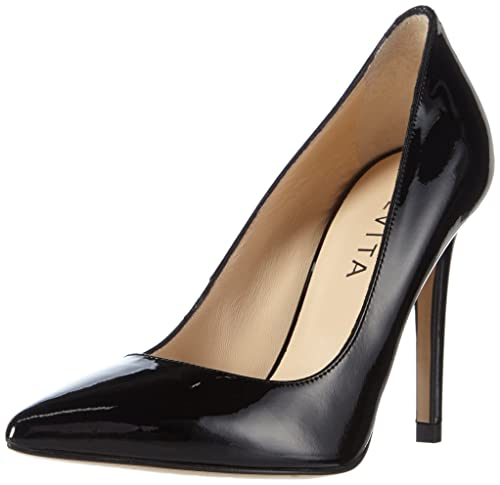 Pump, Zapatos de Tacón con Punta Cerrada para Mujer, Negro (Schwarz 10), 39 EU Evita Shoes