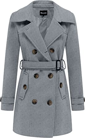 Manteau laine pour femme avec fermeture double boutonnage mi