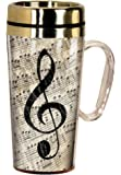 Spoontiques 17242 Music Insulated Travel Mug, Multi