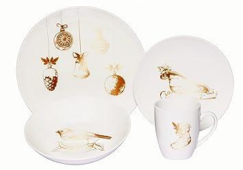 Melange Coupe 36-Piece Porcelain Dinnerware Set, Vintage