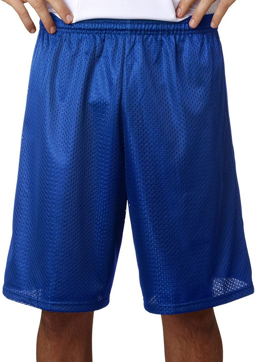 A4 A4/Â/ N5296 Adult Tricot-Lined 9 Mesh Shorts Royal Large
