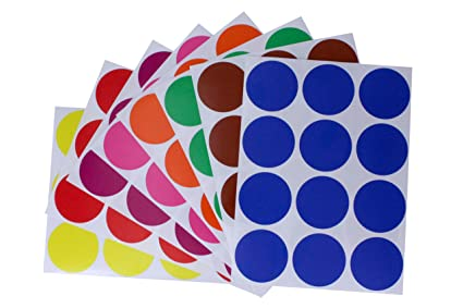 Greeting Cards & Party Supply Home & Garden Colored Dot Stickers 1.5 Inch 38mm Circular Labels For Marking Crafts 180 Pack
