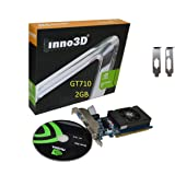 Inno3D Nvidia GeForce GT 710 2GB DDR3 LP Low Profile Video Graphics Card HDMI DVI VGA Single Slot