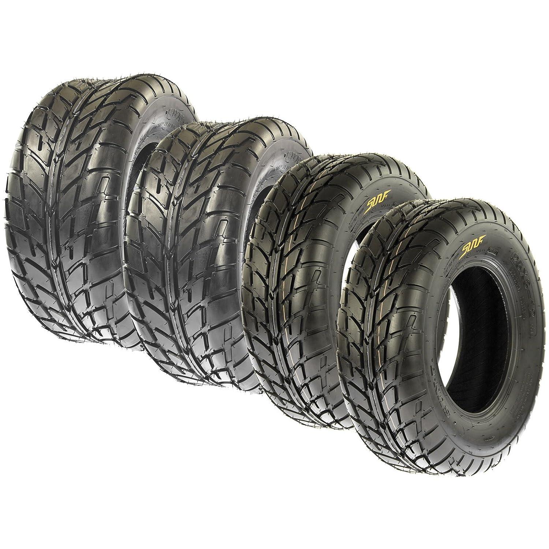 Set of 4 SunF A021 TT Sport ATV UTV Flat Track Tires 19x7-8 Front & 18x9.5-8 Rear, 6 PR, Tubeless