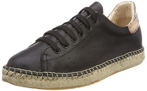 Buffalo 130419 Leather, Zapatillas para Mujer, Negro (Negro 01), 38 EU