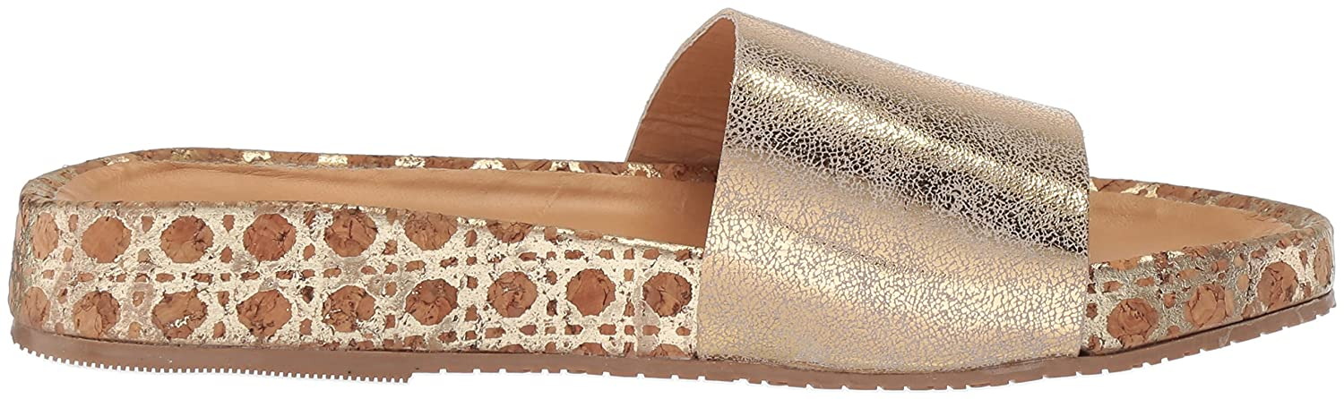 KAANAS Women's Maldives Flat Fashion Pool Slide Sandal B076FFRCRS 11 B(M) US|Gold