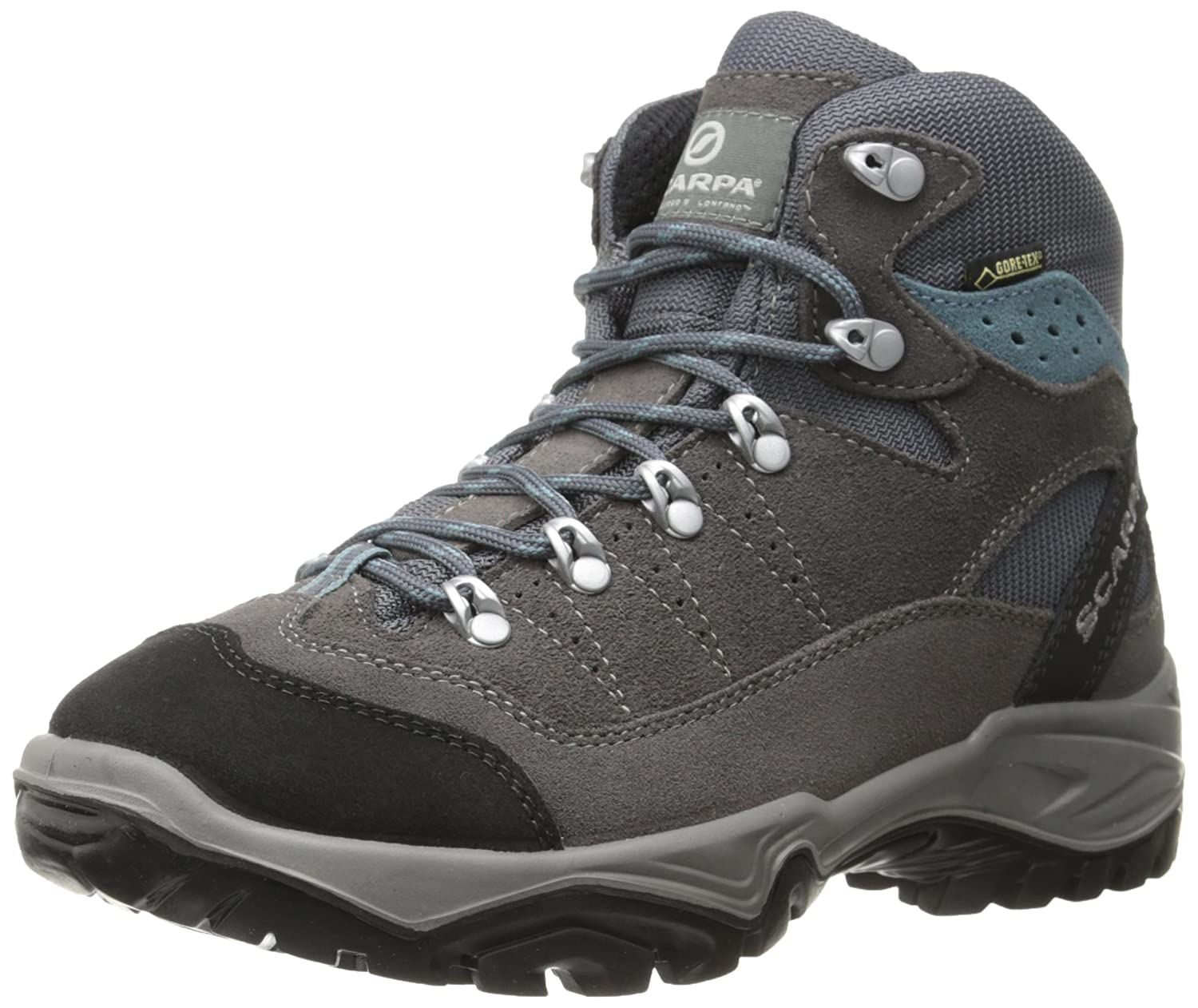 SCARPA Women's Mistral GTX Hiking Boot B00LM6PKLK 42 M EU / 10 B(M) US|Smoke/Polor Blue