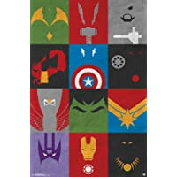 Tendencias Internacionales Avengers Minimalista Grid, 55,9 x 86,4 cm Pared Cartel