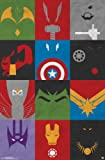 """Amazon Price History for:Trends International Avengers Minimalist Grid, 22"""" x 34"""", Wall Poster"""