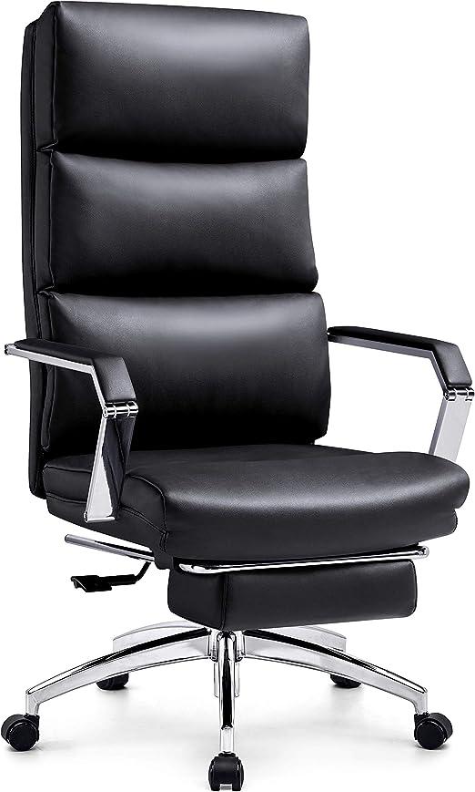 Ticova Reclining Office Chair - Iron Armrest