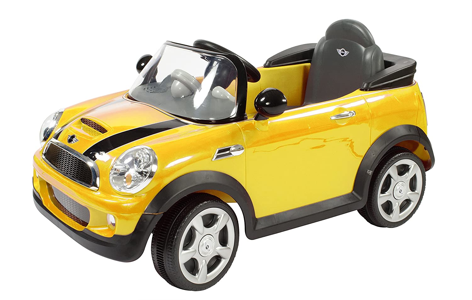 Amazon.com: Rollplay MINI Cooper 6 Volt Battery-Powered Children's Ride-On  Toy, Yellow: Toys & Games