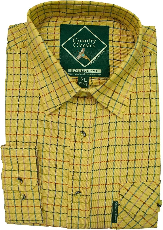 Country Classics – camiseta a cuadros, de hombre, rústica – pesada – de Calidad – Fácil cuidado: Amazon.es: Ropa y accesorios