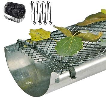 4 x 6m Dachrinnenschutz Dachrinne Laubschutz Gitter Laubfang Regenrinne