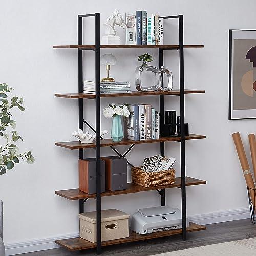 SUPERJARE 5-Tier Bookshelf