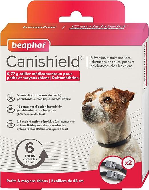 Beaphar Canishield Collar para perros pequeños y medianos, 2 ...