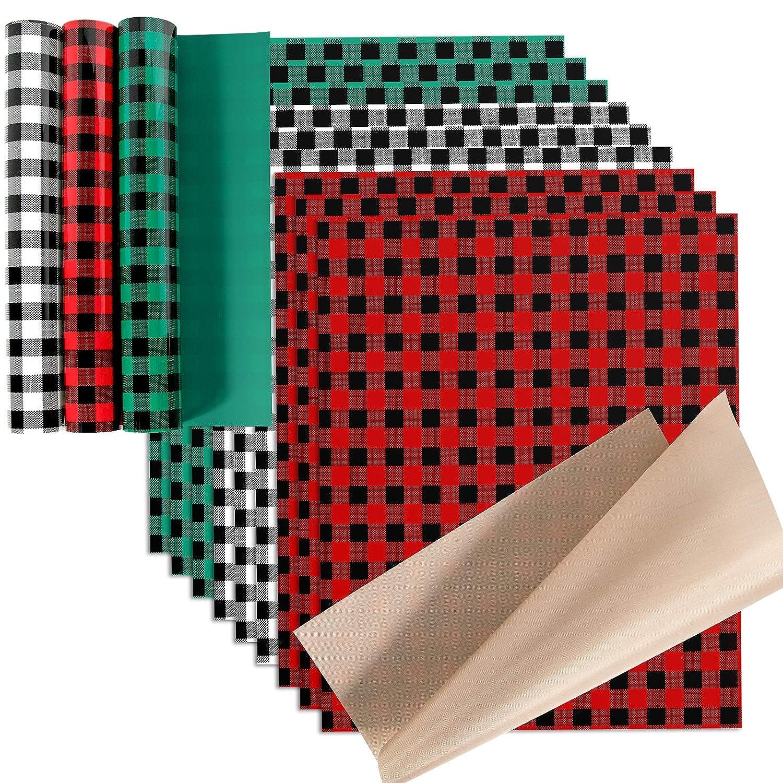 christmas plaid htv plaid htv Red and black plaid htv Buffalo Plaid HTV heat transfer vinyl green and black plaid htv Christmas htv
